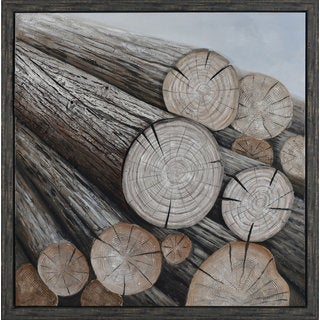 Aurelle Home Logs Wall Decor