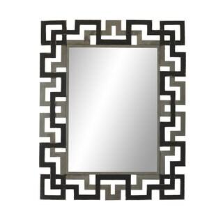 Aurelle Home Large Modern Metal Frame Mirror - Grey