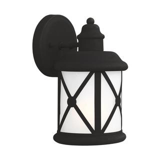 Sea Gull Lakeview 1 Light Black Outdoor Fixture