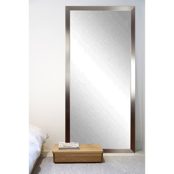 American Value Embossed Silver 30-inch x 63.5-inch Chic Tall Vanity Wall Mirror