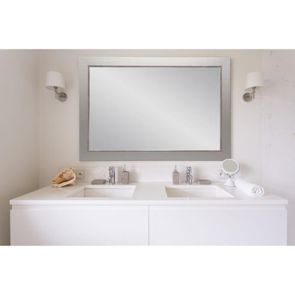 Multi Size Silver Vintage Vanity Wall Mirror - Nickel