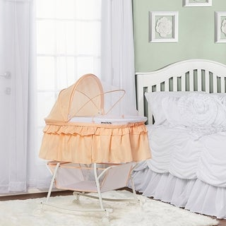 Dream On Me Lacy, Portable 2 in 1 Bassinet and Cradle in Cream Tan