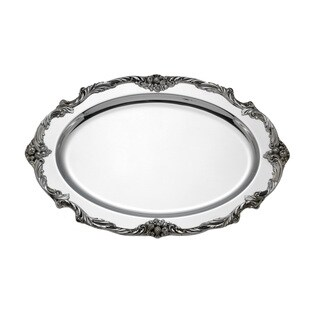 Reed and Barton King Francis Silver Metal Meat Dish