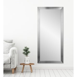 American Value Nickel-finished Tall Vanity Wall Mirror