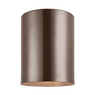 Sea Gull Outdoor Cylinders 1 Light Bronze Outdoor Fixture