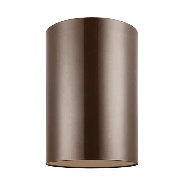 Sea Gull Outdoor Cylinders 1 Light Bronze Outdoor Fixture