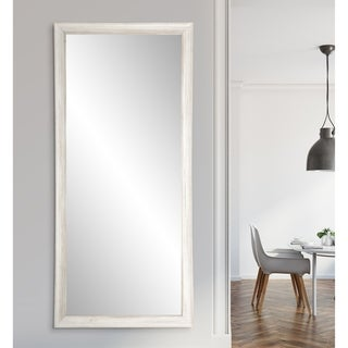 White Texture Tall Mirror 31.5-inch x 65-inch - Distressed White - 21.5 x 65