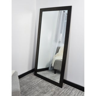 Black 32-inch x 65.5-inch Etched Tall Vanity Wall Mirror