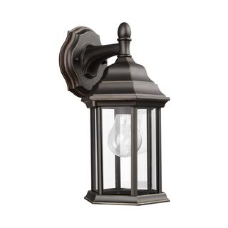 Sea Gull Sevier 1 Light Antique Bronze Outdoor Fixture