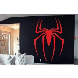 Full Color Spiderman Symbol decal, Spiderman Huge Logo Sticker, Spider sticker Sticker Decal size 33x45