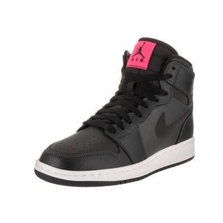 Nike Jordan Boys' Air Jordan 1 Retro High Gg Black Leather Basketball Shoe