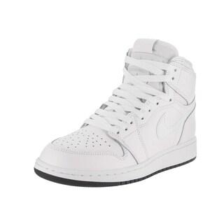Nike Jordan Boys' Air Jordan 1 Retro High OG Bg White Leather Basketball Shoe (More options available)