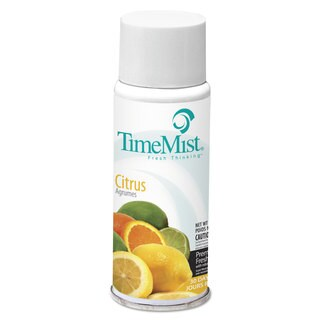 TimeMist Settings Micro Metered Aerosol Refills Citrus 2oz, 12/Carton