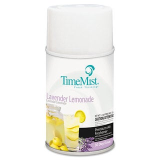TimeMist Metered Fragrance Dispenser Refill Lavender Lemonade 6.6 -ounce Aerosol, 12/Carton