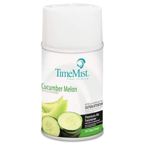 TimeMist Metered Fragrance Dispenser Refill Cucumber Melon 6.6oz Aerosol, 12/Carton