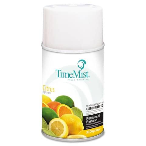 TimeMist Metered Fragrance Dispenser Refill Citrus 6.6oz Aerosol, 12/Carton