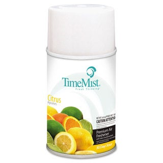 TimeMist Metered Fragrance Dispenser Refill Citrus 6.6oz Aerosol, 12/Carton