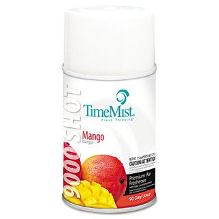 TimeMist 9000 Shot Metered Air Fresheners Mango 7.5-ounce Aerosol 4/Carton