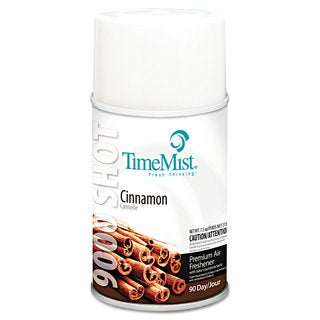 TimeMist 9000 Shot Metered Air Fresheners Cinnamon 7.5-ounce Aerosol 4/Carton
