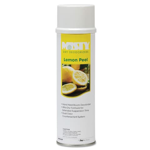 Misty Handheld Air Sanitizer/Deodorizer Lemon Peel 10-ounce Aerosol 12/Carton
