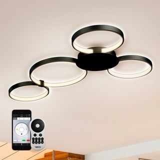 Capella VTCF4443BL 43-inch WiFi-Enabled Tunable-White LED Ceiling Fixture in Black, VISION Series