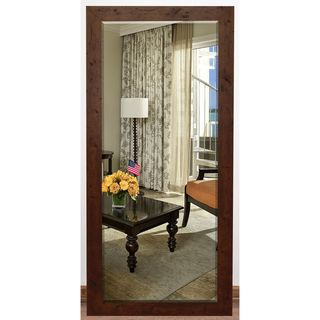 US Made Rustic Dark Walnut Beveled Full Body Mirror - Dark Walnut