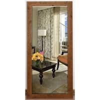 US Made Rustic Light Brown Beveled Full Body Mirror