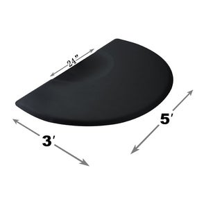 BarberPub 3' x 5' 1/2-inch Thick Salon Anti-Fatigue Floor