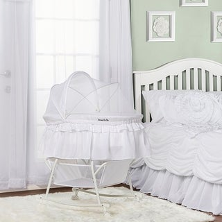 Dream On Me 'Lacy' White Plastic Portable 2-in-1 Bassinet and Cradle