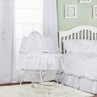 Dream On Me Lacy, Portable 2 in 1 Bassinet and Cradle in white