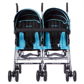 Dream On Me Dark Blue Plastic Twin Stroller