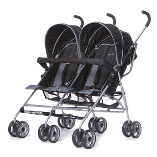 Dream On Me 'Dary' Grey Plastic Twin Stroller