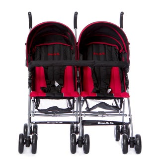 Dream on Me Red and Black Twin Stroller