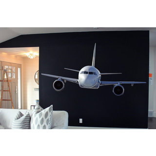 Full Color Boeing Full Color Decal, Plane, Airplane Full color sticker, wall art Sticker Decal size 44x70
