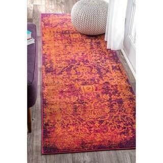 nuLOOM Vintage Inspired Oriental Orange Runner Rug (2'8 x 8')