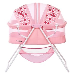 Dream on Me Rose Karley Pink Plastic Bassinet