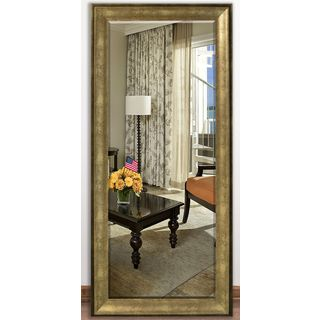 US Made Lustrous Champagne Beveled Full Body Mirror
