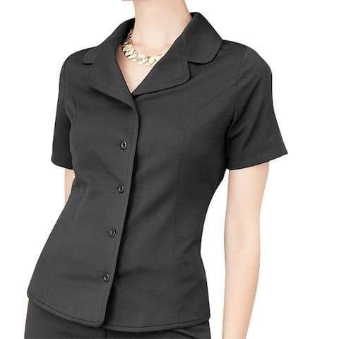 Affinity Apparel Women's Black Short-sleeve Blazer
