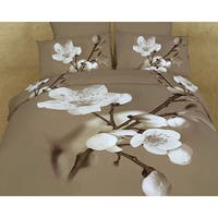 6 Piece Duvet Cover Set w. Fitted Sheet 100 Percent Cotton Bedding