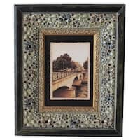 Jeco Green Wood 5x7 Patterned Photo Frame