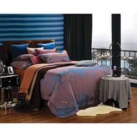 Dolce Mela Jacquard Damask Luxury 6 Piece Duvet Cover Set