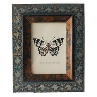 Jeco Brown Wood 5-inch x 7-inch Patterned Photo Frame
