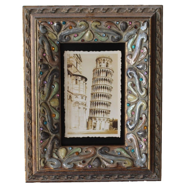 Jeco Bronze-finish Wood 4-inch x 6-inch Patterned Photo Frame