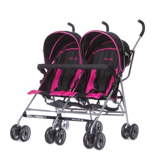 Dream On Me Dark Pink Plastic Twin Stroller