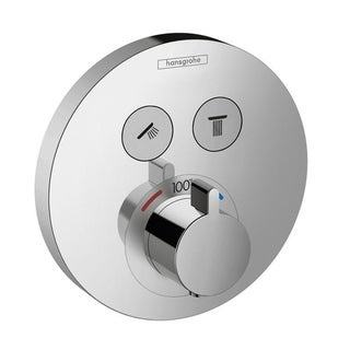 Hansgrohe HG ShowerSelect E Round Chrome 2-function Thermostatic Shower Trim