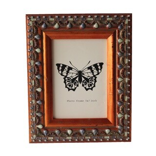 Jeco Brown Wood 5 x 7 Patterned Photo Frame