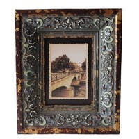 Jeco Bronze-finish Wood 5-inch x 7-inch Patterned Photo Frame
