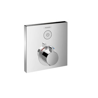 Hansgrohe HG ShowerSelect E Thermostatic Trim 1 Function, Square in Chrome