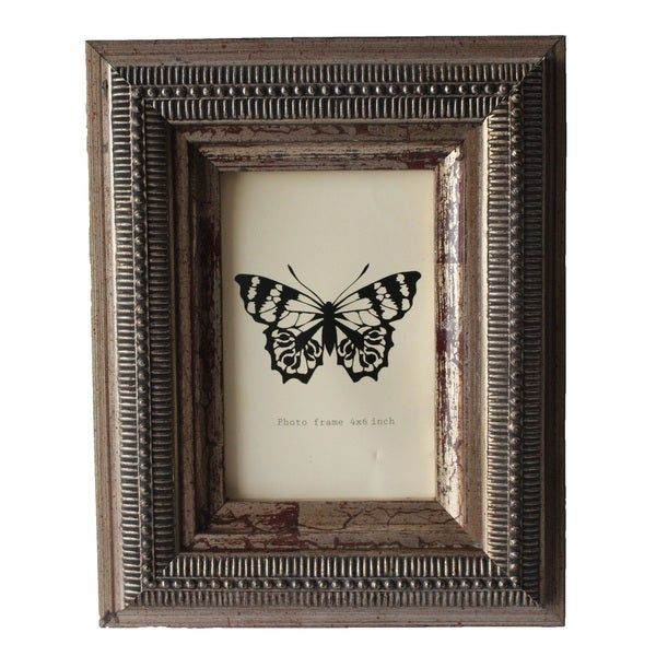 Jeco Bronze Wood 4 x 6 Patterned Photo Frame