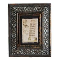 Jeco Brown Wood Patterned 4 x 6 Picture Frame